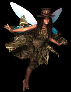Elfe mit Dreadlocks Steampunk Natur Waldelfe