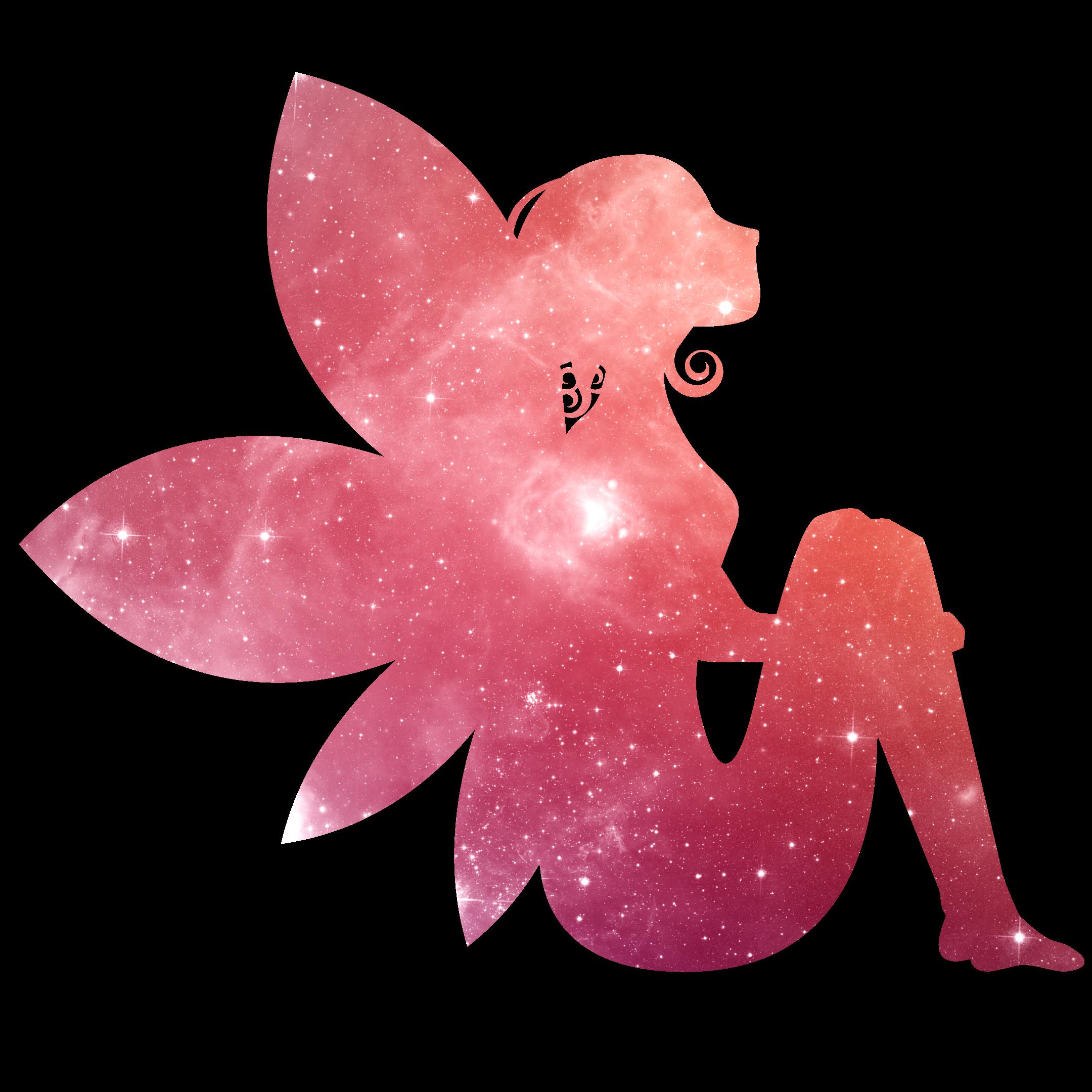 Fee Elfe rot Glitzer Universum Sternenhimmel magisch verzaubert